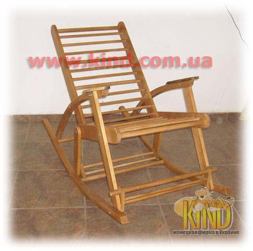 Деревянная детская комната кресло качалка