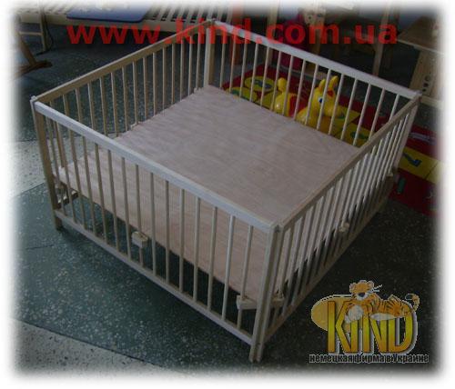 Деревянный Манеж кроватка