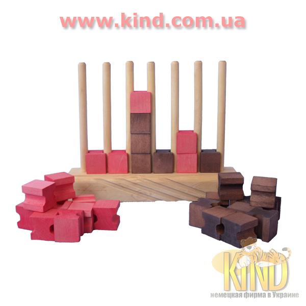 Развивающие игрушки из дерева для малышей