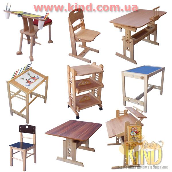Регулируемая детская мебель из дерева