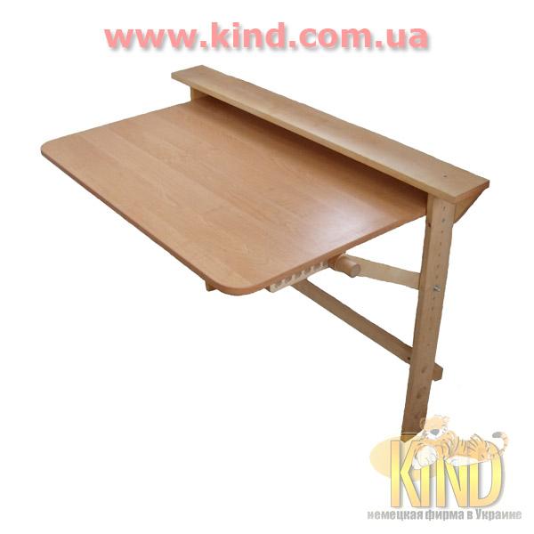 Складной стол для школьника из дерева