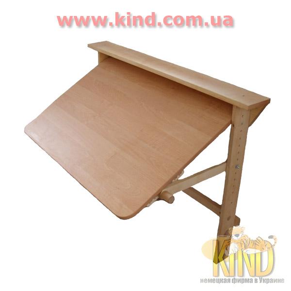Складной стол для школьника из натурального дерева