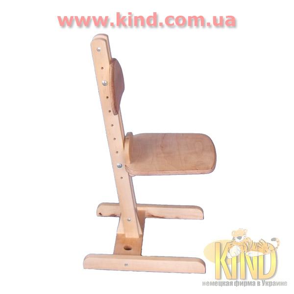 Регулируемый стул из натурального дерева