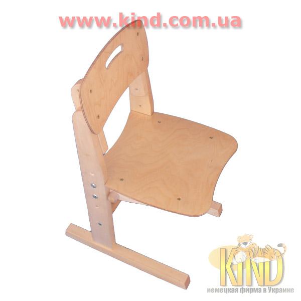 Регулируемый стульчик из натурального дерева