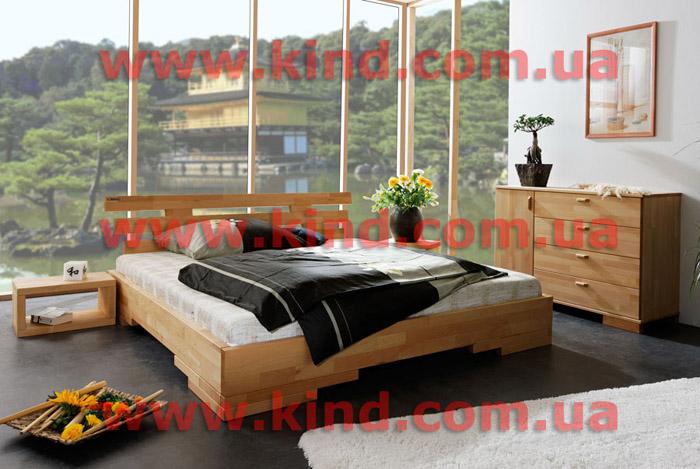 Деревянная детская комната кровать в японском стиле