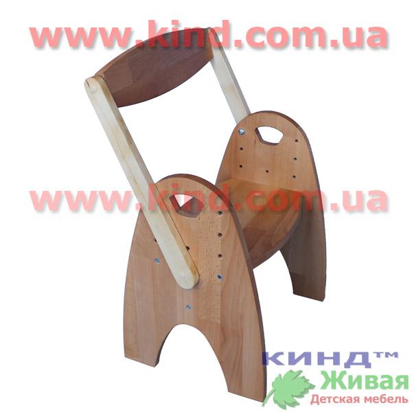 Детский регулируемый стул деревянный