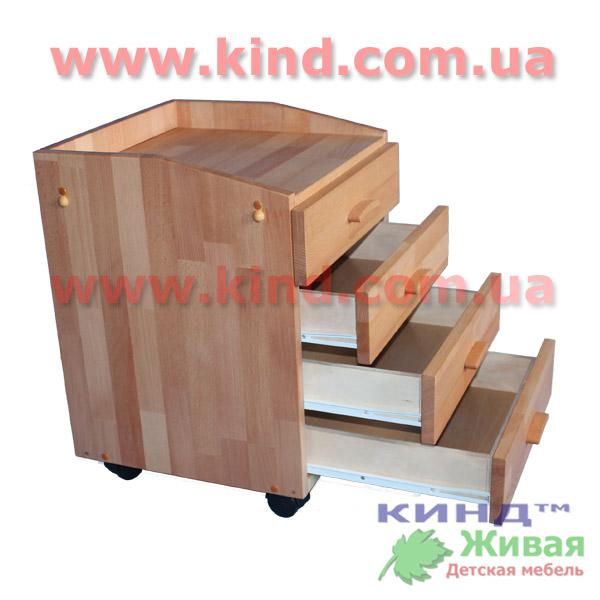 Мебель для детей из дерева тумбочка