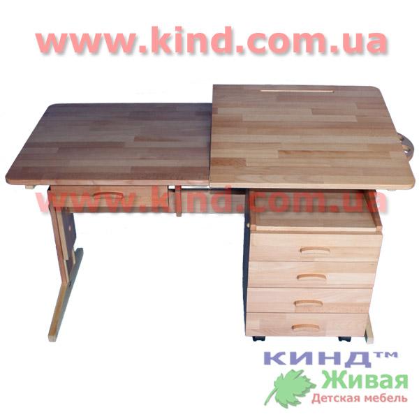 Детский деревянный стол парта
