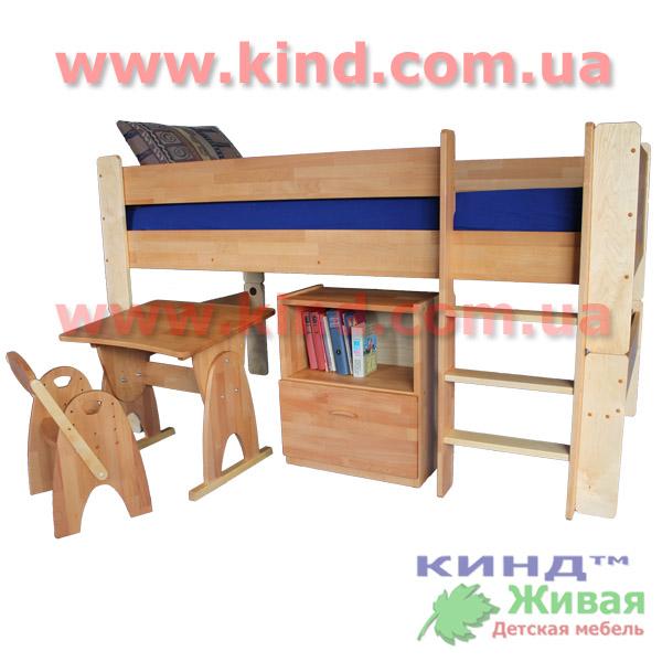 Двухъярусные кровати для детей полувысокие