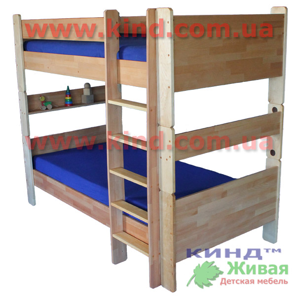 Двухъярусные детские кровати из натурального дерева