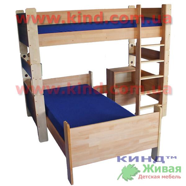 Мебель для детей из дерева кровать