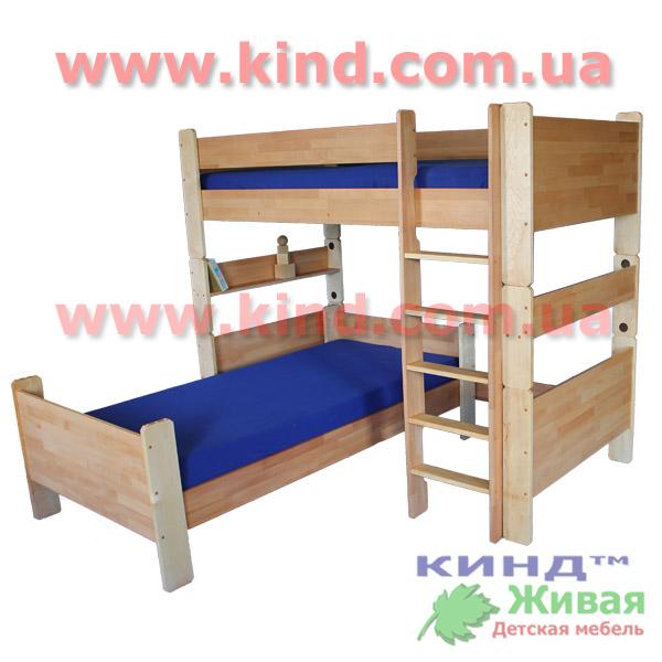 Кровать для школьника из массива