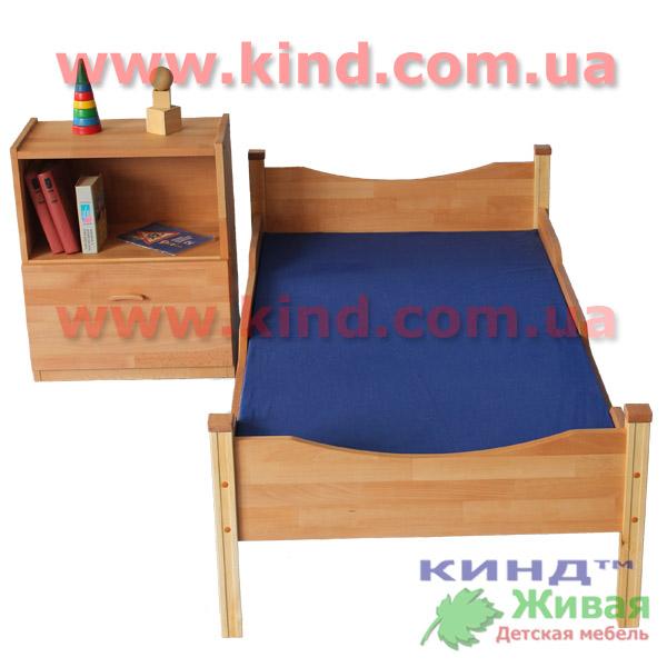 Детская деревянная кровать для малышей