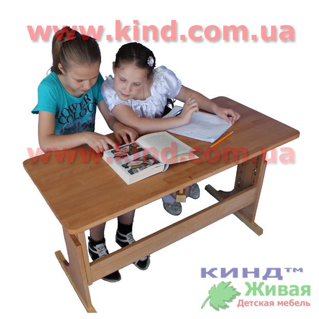 Мебель для двоих детей из натурального дерева