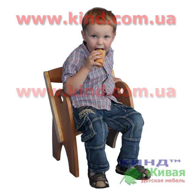 Детский деревянный стул из натурального дерева