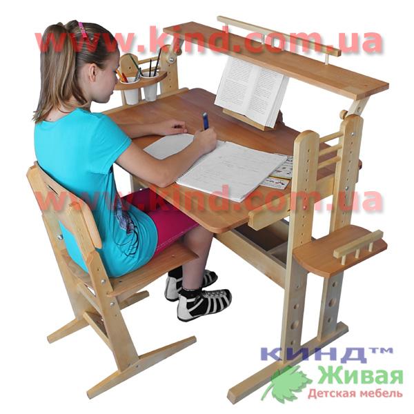 Парта с регулируемым наклоном для школьника