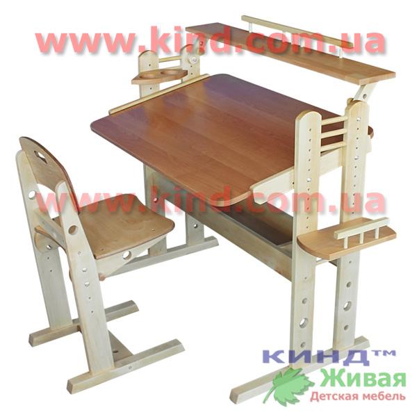 деревянная парта из натурального дерева
