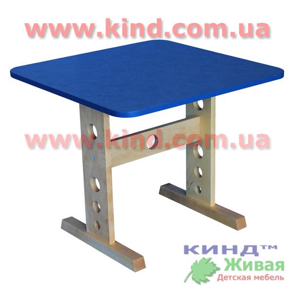 Деревянный детский столик со стульчиком