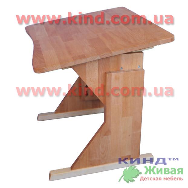 Парта с наклоном столешницы из натурального дерева