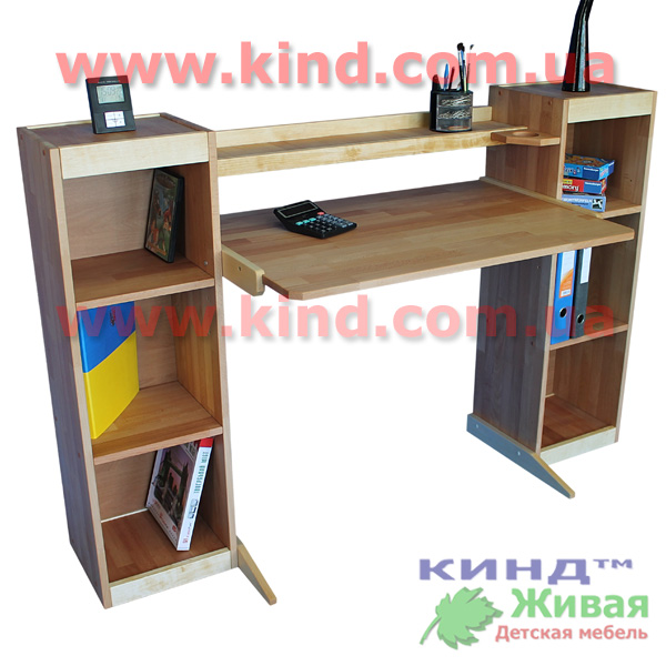 Детский деревянный шкаф и стол