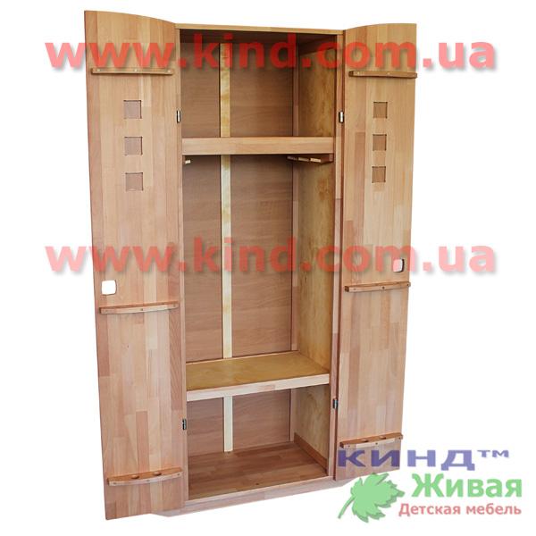 Детский шкаф из дерева для детей