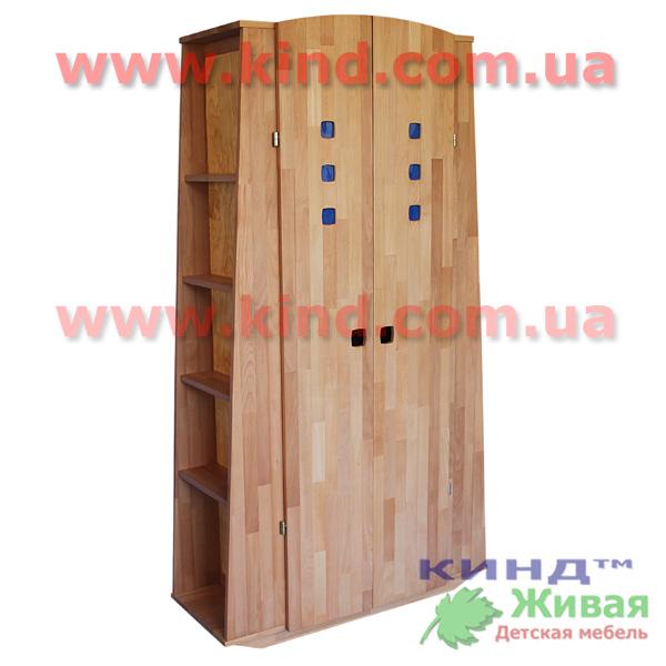 Шкаф в детскую комнату из натурального дерева