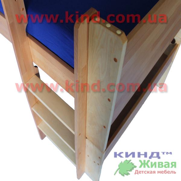 Кровать чердак из дерева лестница