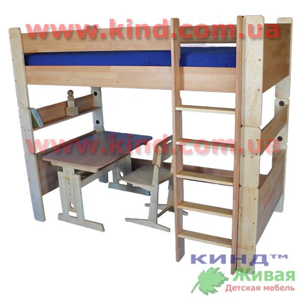Деревянная двухъярусная кровать в детскую комнату