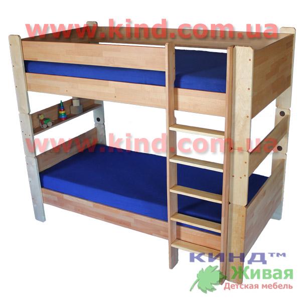 Двухъярусные кровати для детей из дерева